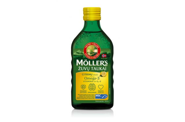 Mollers citrinu skonio skysti žuvų taukai 250ml