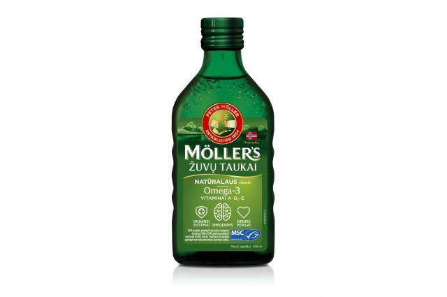 Mollers naturalaus skonio skysti žuvų taukai