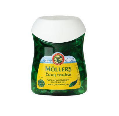 Mollers žuvų taukai kapsulės