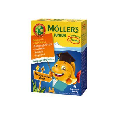 Mollers apelsinu citrinu žuvų taukai guminukai žuvelės