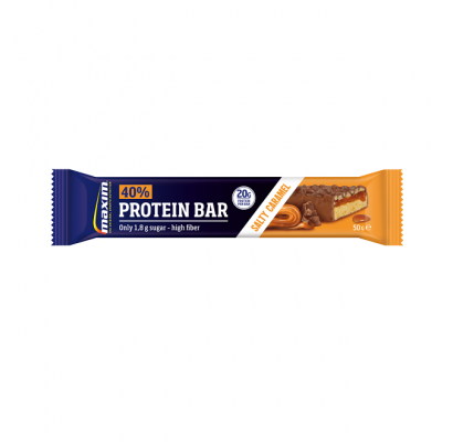 MAXIM sūrios karamelės skonio batonėlis su 40 % baltymų