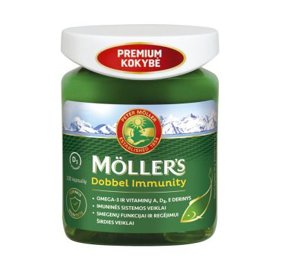 Mollers Dobbel Immunity žuvų taukai