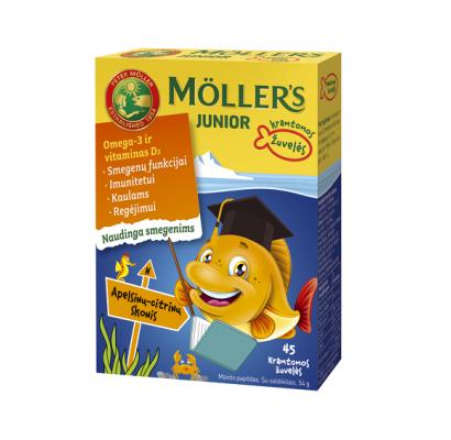 Mollers Junior citrinų apelsinų skonio