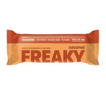 MAXIM FREAKY karamelės skonio baltymų batonėlis