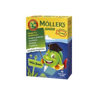 Mollers Junior vaisių skonio guminukai žuvelės