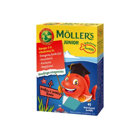 Mollers braškių kramtomos žuvelės žuvų taukai
